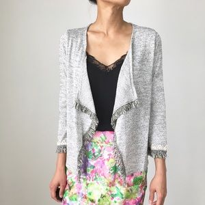 Classic lightweight open front cardigan